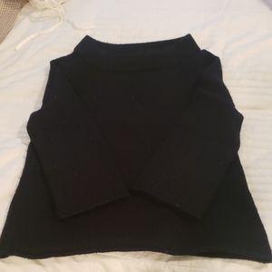 Jcrew navy mock 3/4 sleeve wool sweater XS